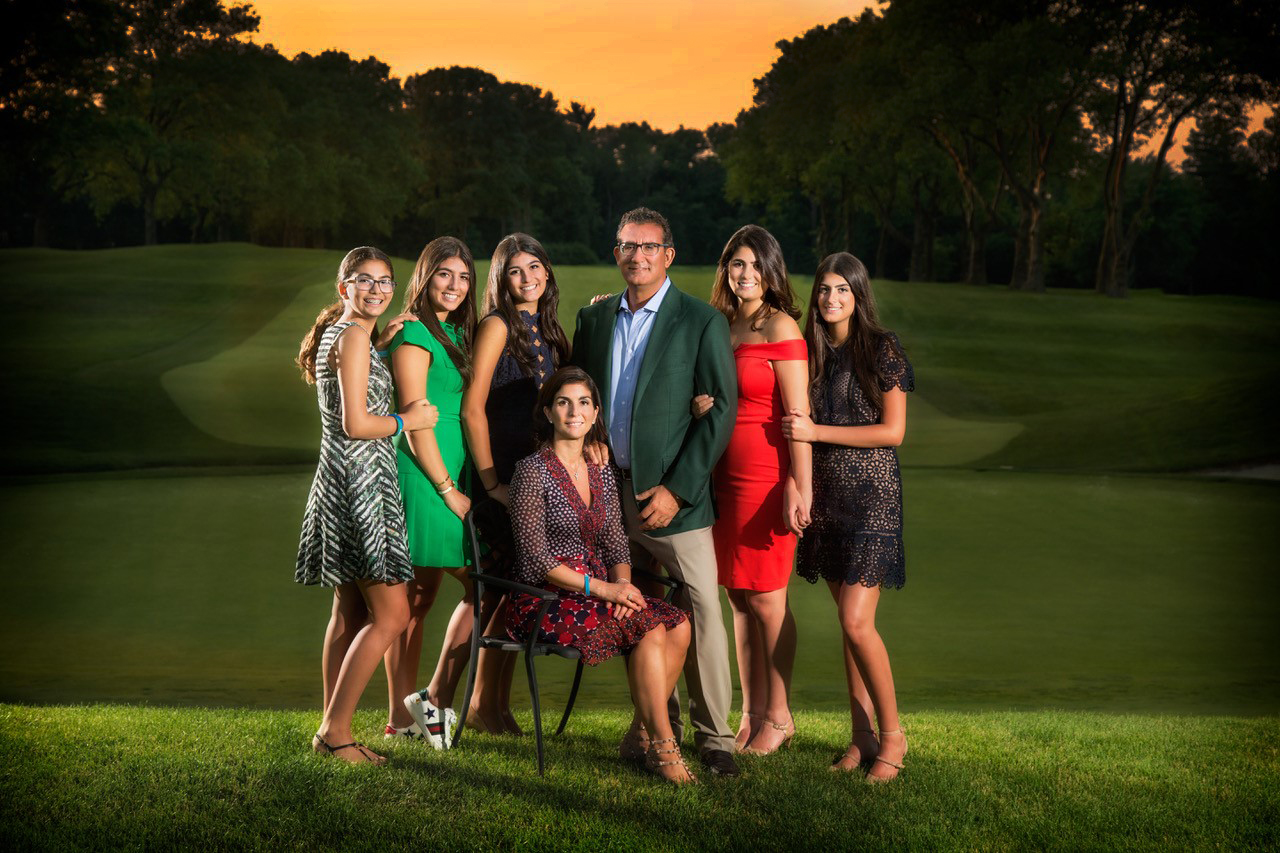 The Beautiful Milana Family Gathered Together on the Golf Course