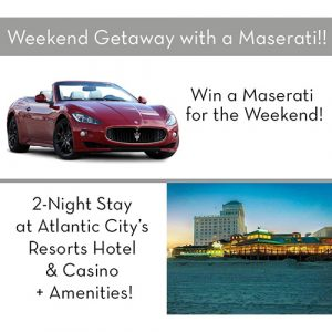 A raffle for a maserati and a weekend getaway